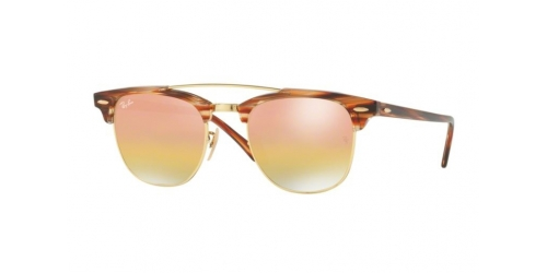 Ray-Ban RB3816 Clubmaster Doublebridge 1237I1 Gold Light Havana