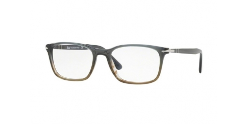 Persol PO3189V PO 3189V 1012 Gradient Grey Striped Green