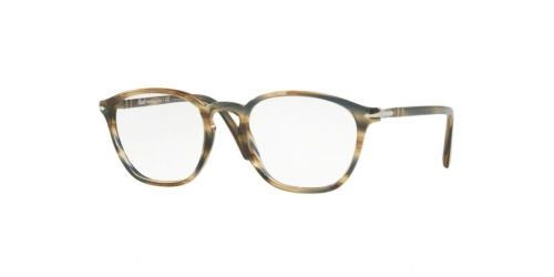 Persol PO3178V PO 3178V 1049 Striped Brown Grey