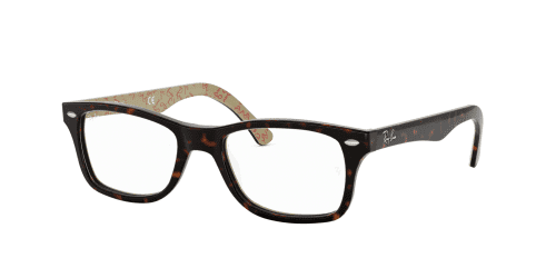 Ray-Ban Ray-Ban RX5228 5057 Dark Havana on Beige Text