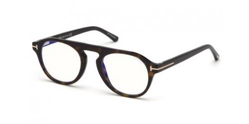 Tom Ford Tom Ford TF5533-B Blue Control with Clip On Sunglasses TF 5533-B 52E Dark Havana/Brown