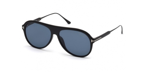 Tom Ford NICHOLAI-02 TF0624 02D Matte Black/Smoke Polarized
