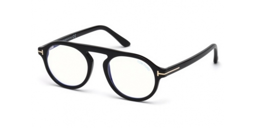 Tom Ford TF5534-B Blue Control TF 5534-B 001 Shiny Black