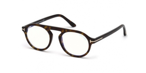 Tom Ford TF5534-B Blue Control TF 5534-B 052 Dark Havana