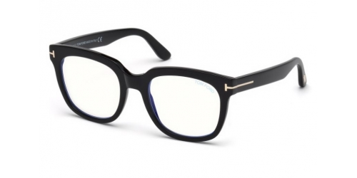 Tom Ford TF5537-B Blue Control TF 5537-B 001 Shiny Black