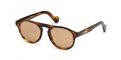 Moncler ML0073 50E Dark Brown /Havana