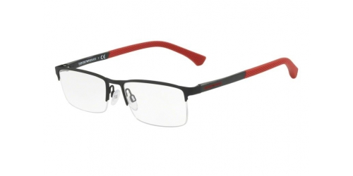 Emporio Armani EA1041 3109 Black Rubber/Red
