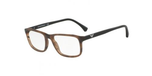 Emporio Armani EA3098 5548 Matte Striped Brown