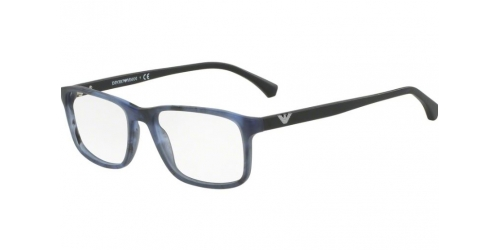 Emporio Armani EA3098 5549 Matte Striped Blue