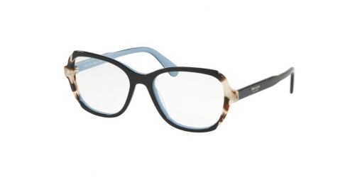 Prada PR03VV PR 03VV KHR1O1 Top Black/Azure/Spotted Brown