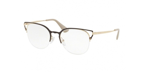 Prada PR64UV PR 64UV 98R1O1 Brown/Gold
