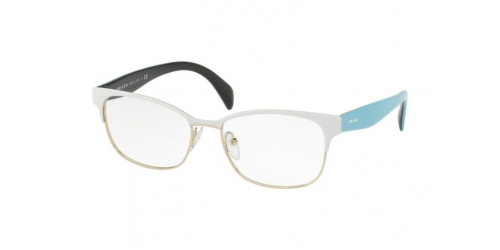 Prada PR65RV PR 65RV VIC1O1 Matte White/Pale Gold