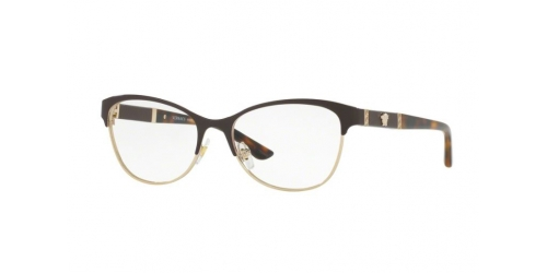 Versace VE1233Q VE 1233Q 1344 Brown/Pale Gold