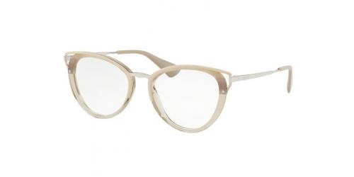 d1118e8df90ed Acetate or Plastic Brown Silver Glasses Cat Eye Prada