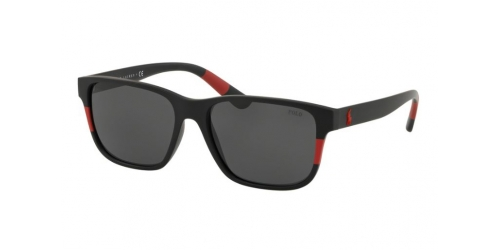 Polo Ralph Lauren PH4137 528487 Matte Black/Red