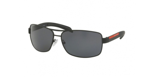 Prada Linea Rossa PS54IS PS 54IS DG05Z1 Black Rubber Polarised