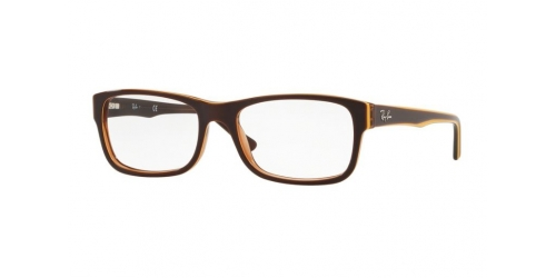 Ray-Ban RX5268 5817 Transparent Light Brown on Yellow