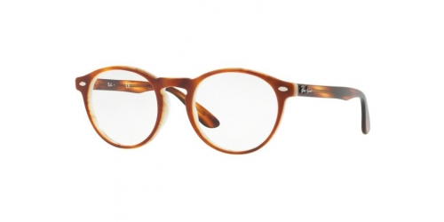 Ray-Ban RX5283 5677 Top Havana Brown Beige Horn