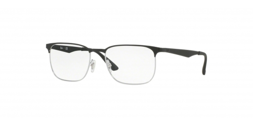 Ray-Ban Ray-Ban RX6363 2861 Silver Top on Black