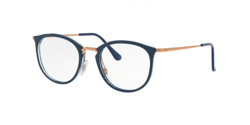 Ray-Ban RX7140 5853 Transparent on Top Blue