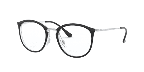 Ray-Ban Ray-Ban RX7140 5852 Transparent on Top Black