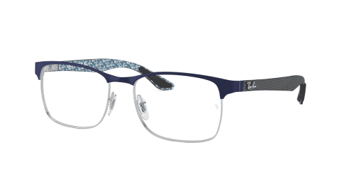 Ray-Ban Ray-Ban RX8416 3016 Silver on Top Matte Blue