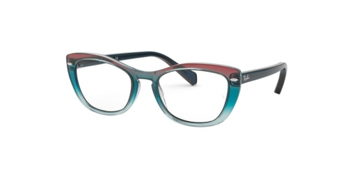 Ray-Ban RX5366 5834 Tri Gradient Blue/Red/Azure