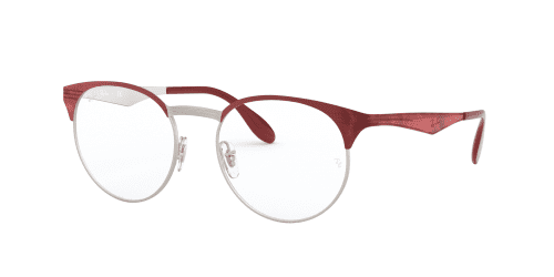 Ray-Ban Ray-Ban RX6406 3024 Silver on Top Red