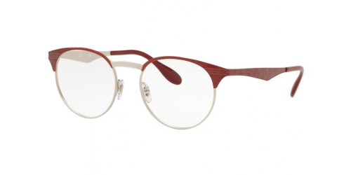 Ray-Ban RX6406 3024 Silver on Top Red