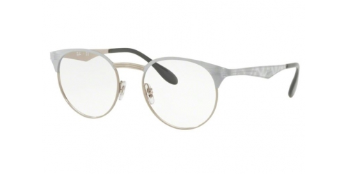 Ray-Ban RX6406 3026 Silver on Top White