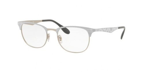 Ray-Ban RX6346 3023 Matte Silver on Top Matte White