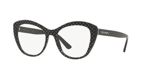 Dolce & Gabbana DG3284 3126 Pois White on Black