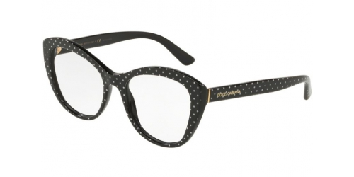 Dolce & Gabbana DG3284 3126 Pois White on Black