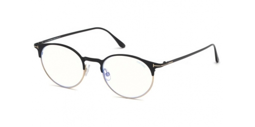 Tom Ford TF5548-B Blue Control TF 5548-B 001 Shiny Black