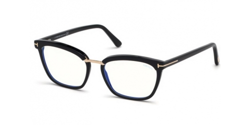 Tom Ford TF5550-B Blue Control TF 5550-B 001 Shiny Black
