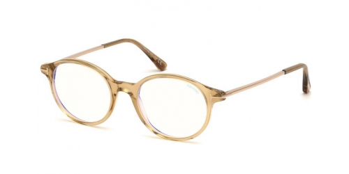 e2817e21b7 Tom Ford TF5554-B Blue Control TF 5554-B 045 Shiny Light Brown