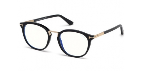 Tom Ford TF5555-B Blue Control TF 5555-B 001 Shiny Black