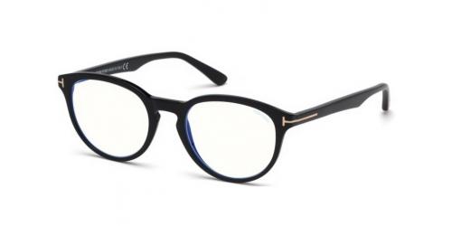 Tom Ford TF5556-B Blue Control TF 5556-B 001 Shiny Black