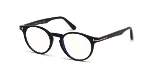 Tom Ford TF5557-B Blue Control TF 5557-B 001 Shiny Black