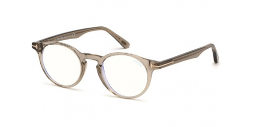 Tom Ford TF5557-B Blue Control TF 5557-B 045 Shiny Light Brown