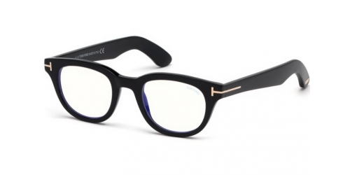 Tom Ford TF5558-B Blue Control TF 5558-B 001 Shiny Black