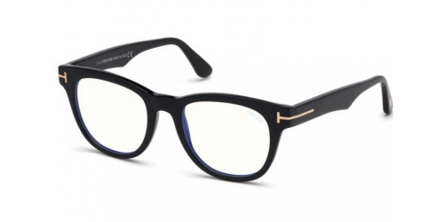 Tom Ford TF5560-B Blue Control TF 5560-B 001 Shiny Black