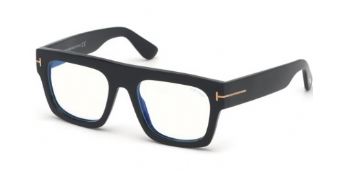 Tom Ford Fausto TF5634-B Blue Control TF 5634-B 001 Shiny Black