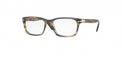 1bfe6f8697 Persol PO3012V PO 3012V 1049 Striped Brown Grey