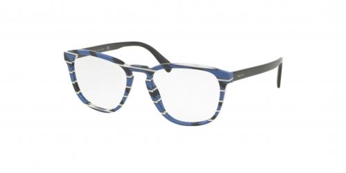Prada CONCEPTUAL PR09VV PR 09VV 3191O1 Striped Grey Blue