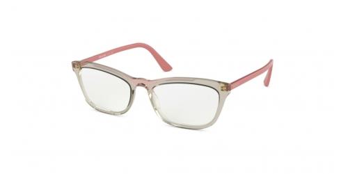 Prada CATWALK PR10VV PR 10VV 3261O1 Transparent Brown/Transparent Pink