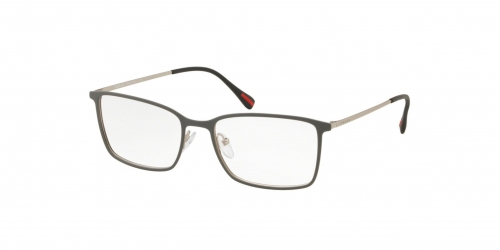 Prada Linea Rossa SPECTRUM EVOLUTION PS51LV PS 51LV 3681O1 Top Grey Rubber/Silver Rubber