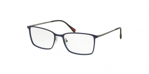 Prada Linea Rossa SPECTRUM EVOLUTION PS51LV PS 51LV 3701O1 Blue Rubber/Gunmetal Rubber