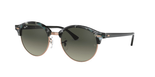 Ray-Ban RB4246 Clubround 125571 Spotted Grey/Green