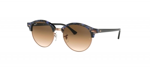 Ray-Ban RB4246 Clubround 125651 Spotted Brown/Blue